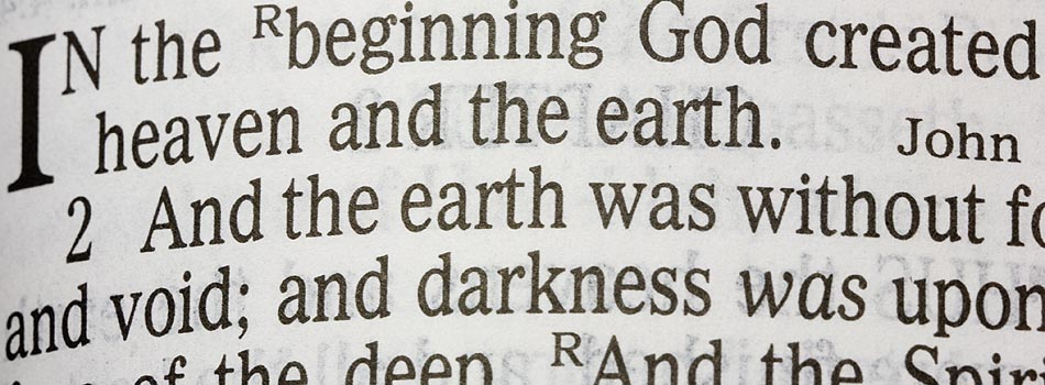 The verse, In the Beginning, Genesis 1:1