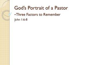 God's Portrait of a Pastor