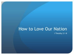How to Love Our Nation