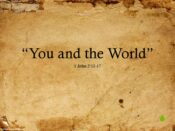 You and the World