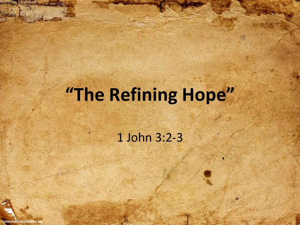 thumbnail of The Refining Hope