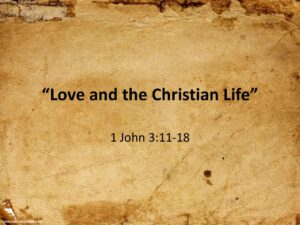 Love and the Christian Life