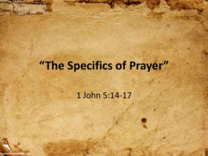 The Specifics of Prayer