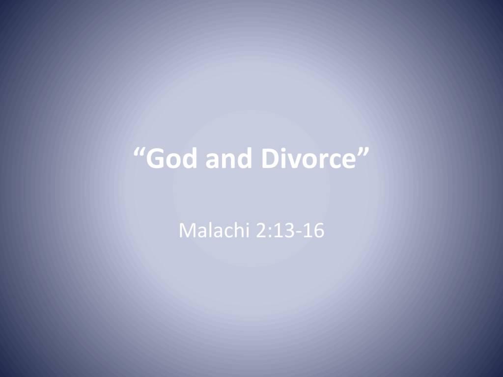 God and Divorce