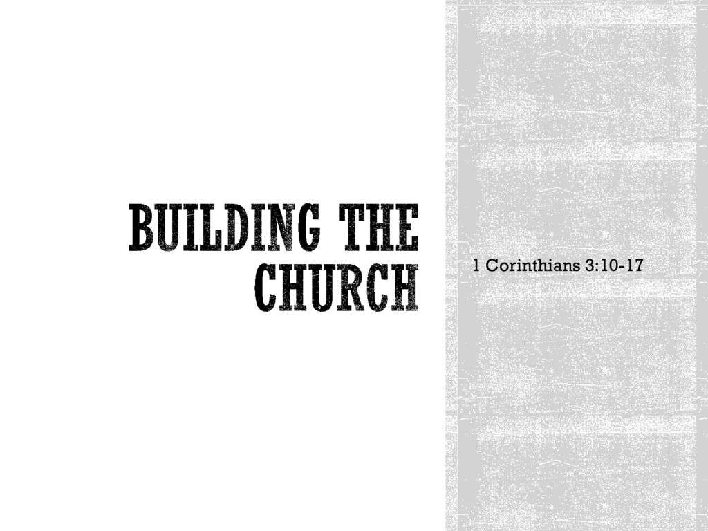Building the Church