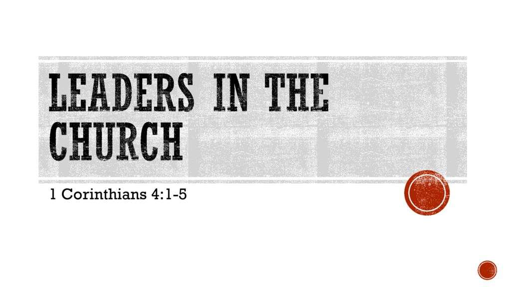 Leaders in the Church