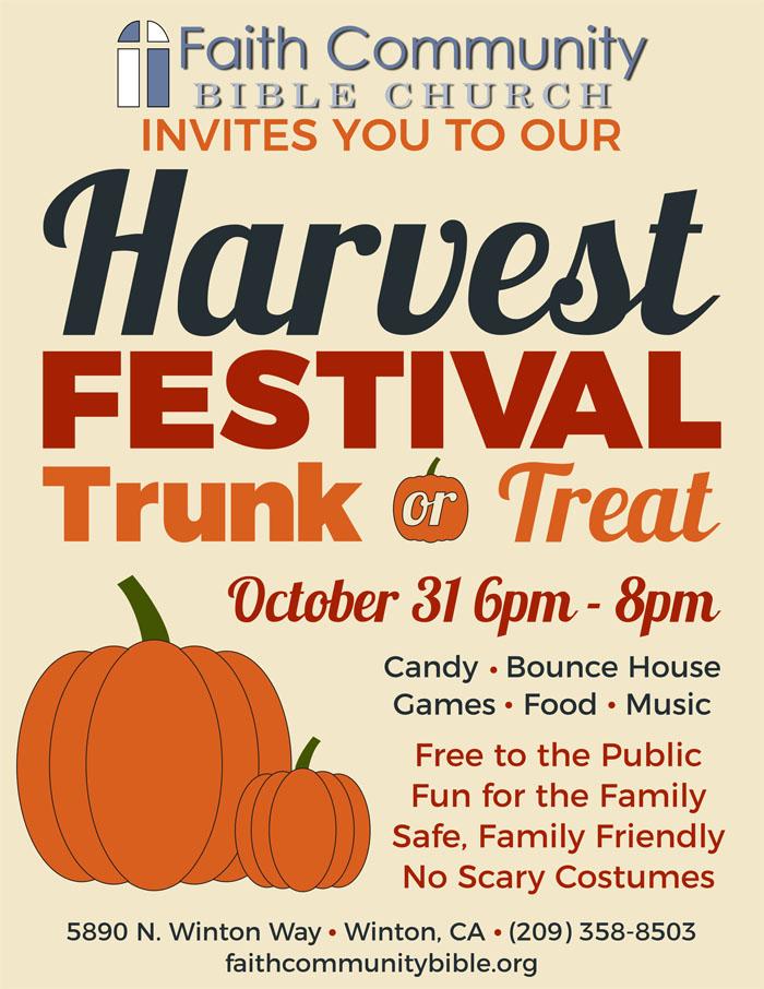 Family Friendly Halloween Alternative - Harvest Festival Trunk or Treat