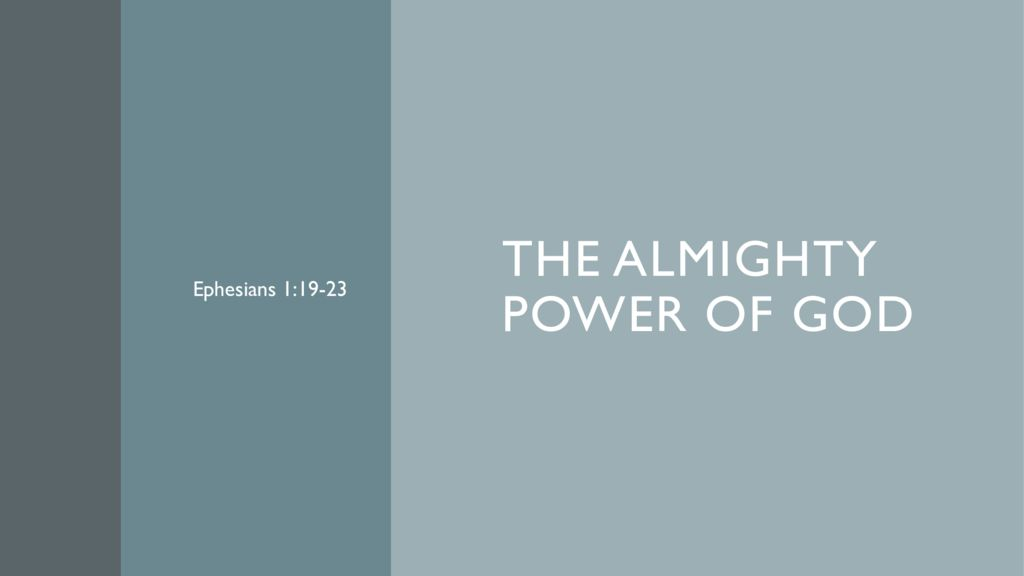 The Almighty Power of God