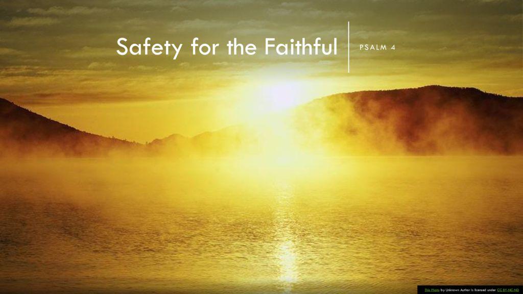 Safety for the Faithful