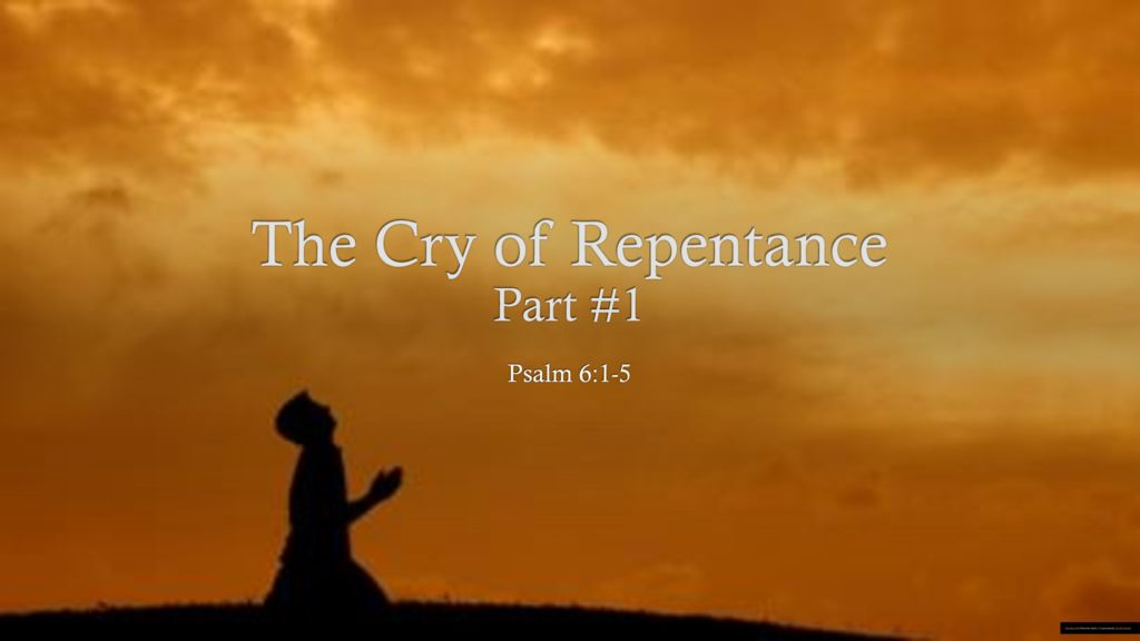 The Cry of Repentance Part 1