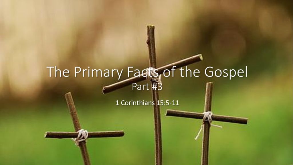 The Primary Facts of the Gospel – Part 3