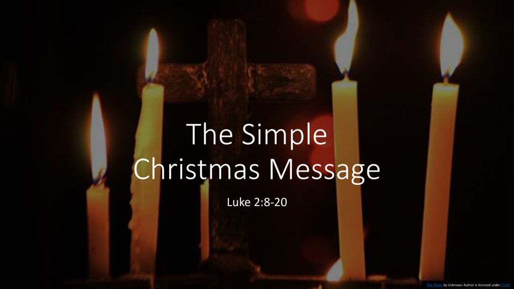 The Simple Christmas Message