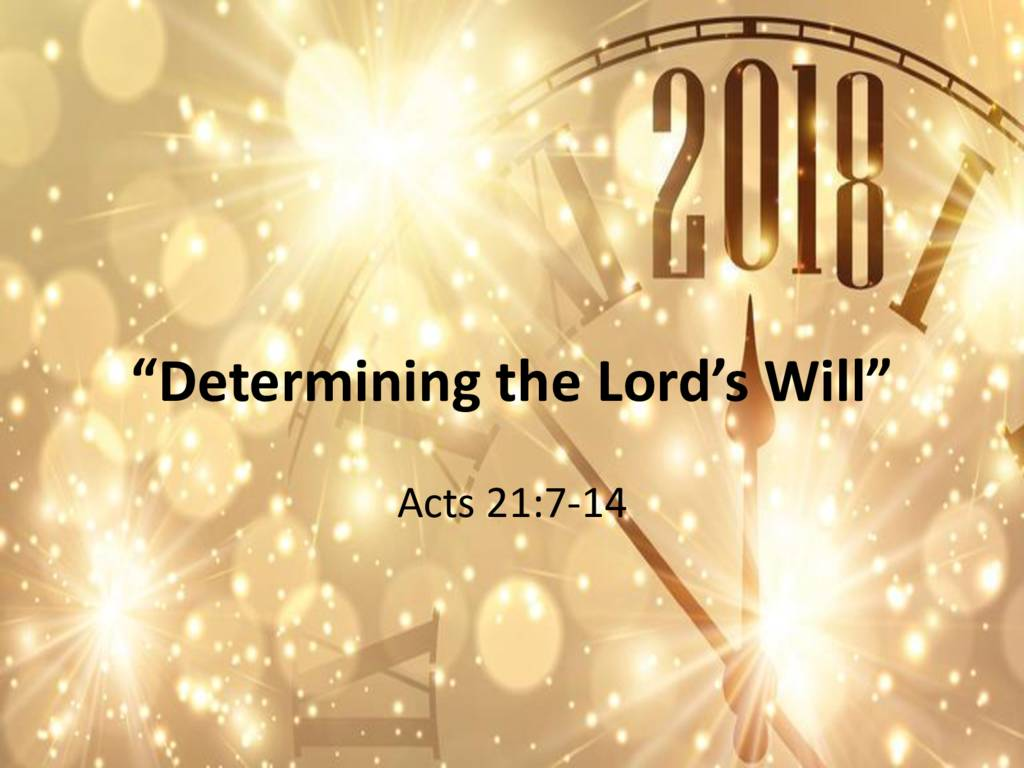 Determing the Lord's Will