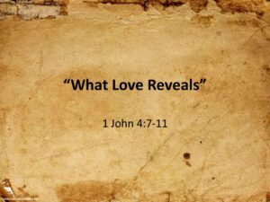What Love Reveals